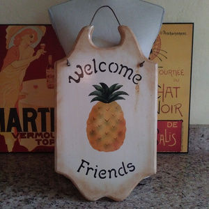 Other - Pineapple Welcome Sign - Wooden - Hand Painted